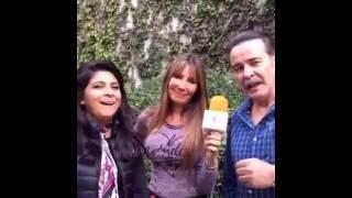 Cierran foro de Las Amazonas - Victoria Ruffo & Cesar Evora con Cristy Saavedra