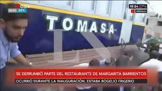 Se desplomó el deck en Inauguración del restaurante de Margarita Barrientos
