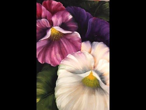 Como pintar flores Pinceladas de Silvia Mongelos