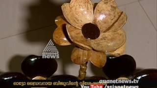 Coconut Shell Handicrafts made by Auto Driver Biju