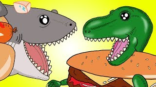 """My Cute Shark Attack Cartoon #57 (Shark-Copter vs. Dino-Copter!!! BEST OF!!) kids cartoons!"