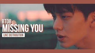 BTOB - Missing You Line Distribution (Color Coded) | 비투비 - 그리워하다