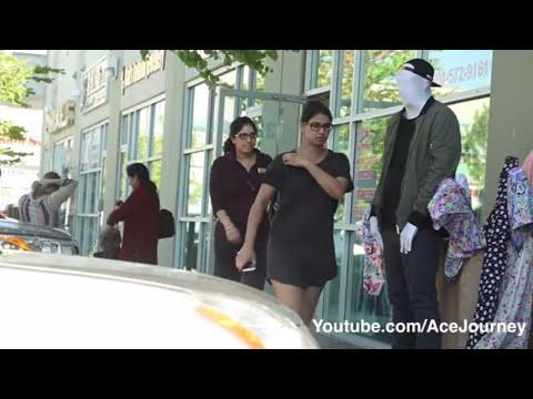 Mannequin Scare Prank On Indian GIRLS SPEAKS PUNJABI