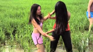 Paddy field mud fight (snippet from KINKS, the movie)