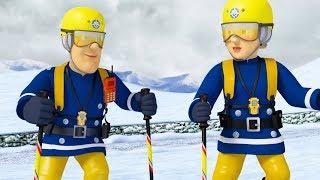 Sam el Bombero en Español 🌟 Fuego en la nieve -  Rescates de montaña 🔥  Capítulos completos