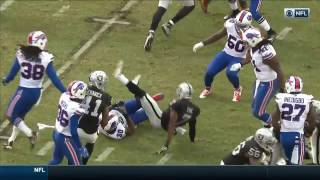 Marquette King Celebrates with Flag After Roughing the Kicker Penalty | NFL