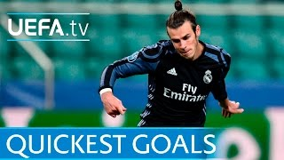 Gareth Bale and the 5 quickest UEFA Champions League goals