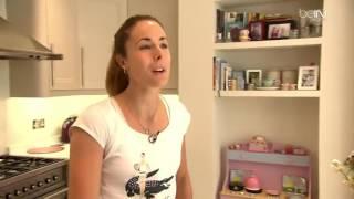 BEIN SPORTS VU À LA TV USANA Chez Alizé Cornet