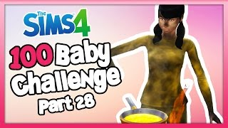 The Sims 4: 100 Baby Challenge - Part 28 - SHES STARTED A FIRE!