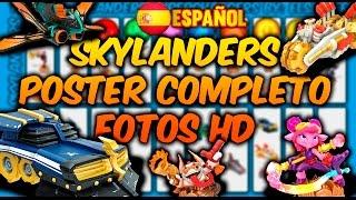 Skylanders Superchargers Español   Poster completo, combinaciones supercharged y HD