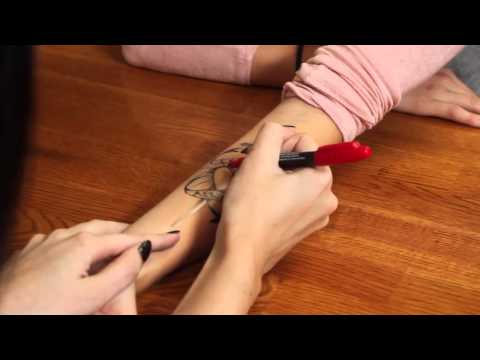 Temporary Tattoo Kit How To Guide Temporary Tattoo Pen Instructions