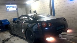 1000HP Nissan GT-R R1K Shooting Flames!