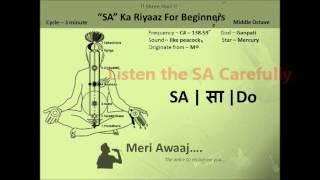 SA Ka Riyaaz for beginners | Practicing Swaras Tutorial 1 | Learn Indian Classical Music