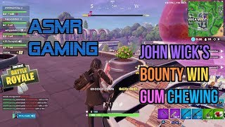ASMR Gaming | Fortnite John Wick's Bounty Relaxing Gum Chewing 🎮Controller Sounds + Whispering😴💤