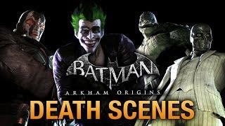 Batman: Arkham Origins - Game Over Death Scenes