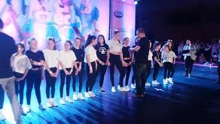 Předávání medajle starší cheer:)* czech dance tour