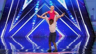 America's Got Talent 2017 Simon Hates Child Dance Duo Artyon & Paige Full Audition S12E02