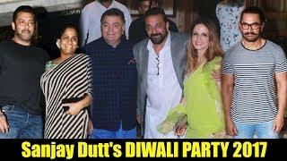 Uncut - Sanjay Dutt's DIWALI PARTY 2017 | Salman Khan, Jacqueline, Vidya Balan