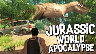 APOCALYPTIC JURASSIC WORLD! (NEW DINOSAUR GAME) - Dinosis Survival Gameplay
