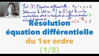 Terminale S Résolution équation différentielle du 1er ordre (1/2)