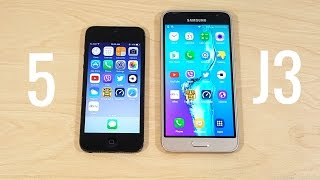 iPhone 5 vs Samsung Galaxy J3