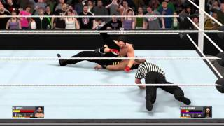 Phenomenal forearm by Aj Styles WWE 2k16