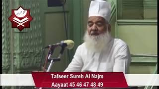 Tafseer Sureh Al Najm -Aayat 45/46/47/48/49(12 oct17)Maulana Zaheeruddin Khan