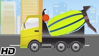 Concrete Mixer Videos For Kids To Learn   3D Animation Car Videos   Shemaroo Kids