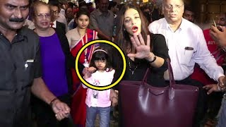 Aishwarya Rai's Daughter Aaradhya Bachchan Gets Scared Of Reporters At Airport