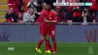 Daniel Sturridge Goal HD ( Liverpool 1-0 Dortmund ) 2014 . Incredible assist by Coutinho