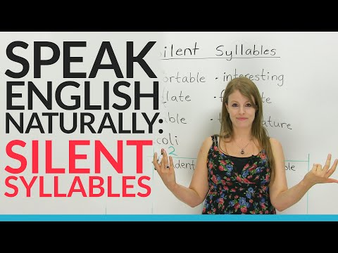 watch Speak English Naturally: Silent Syllables