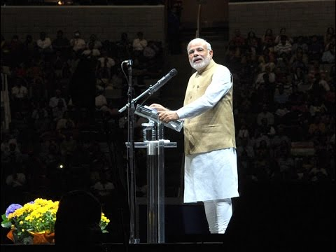 PM Shri Narendra Modi at the Indian Community reception at SAP Centre San Jose, California