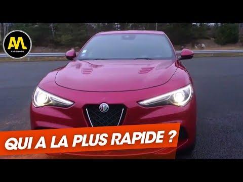 Alfa Romeo Stelvio vs Mercedes GLC Qui est le plus rapide