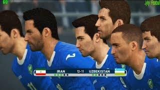 PES 2017 | Iran vs Uzbekistan FIFA world cup 2018 qualifying | Penalty Shootout Gameplay PC