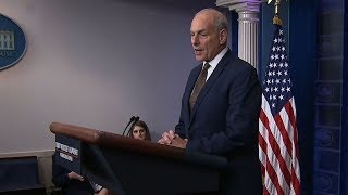 John Kelly takes questions from media