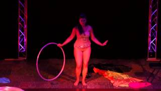 Valentina's Slinky Hoop Burlesque at  Seduced by the Imaginarium Circus