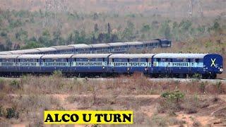 Tirupati Kolhapur Haripriya  Express Snakes U Turn | Sulebhavi