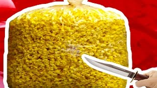 GIANT POPCORN GUMMY JELLO!!! FUN & Messy DIY!! Homemade Popcorn Gummy!!