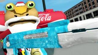 NEW SANTA GUN! NEW CHRISTMAS UPDATE! - Amazing Frog - Part 127 | Pungence