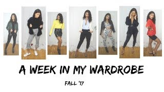 LOOKBOOK: A WEEK IN MY WARDROBE FALL  2017