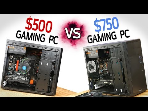 500 Gaming PC vs 750 Gaming PC