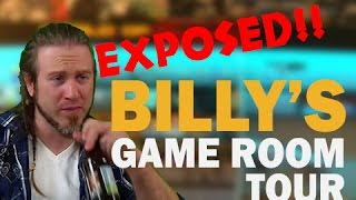 Billy's Game Room Tour. Cringiest Game Room on the internet! Exposed!