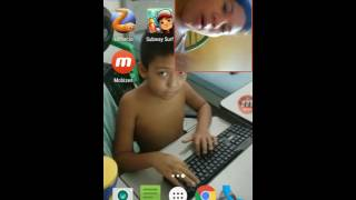 Primeiro vídeo de webcam
