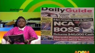Badwam Newspaper Headlines on Adom TV (25-5-17)