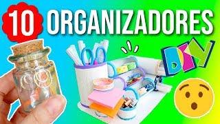 Los 10 MEJORES ORGANIZADORES DIY con MATERIALES RECICLADOS. ORGANIZADORES de JOYAS y ESCRITORIO