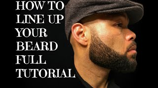 How to line up your beard (Full Tutorial) Beard Shaping