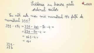 Scăderea cu trecere peste ordinul zecilor - Matematica clasa a II-a