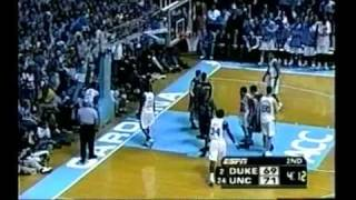 J.J. Redick lights up UNC