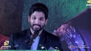 Allu Arjun Tamil speech with Telugu subtitles ||