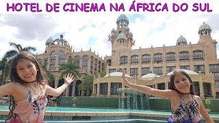 FOMOS PARA UM HOTEL DE CINEMA DE VERDADE NA ÁFRICA DO SUL